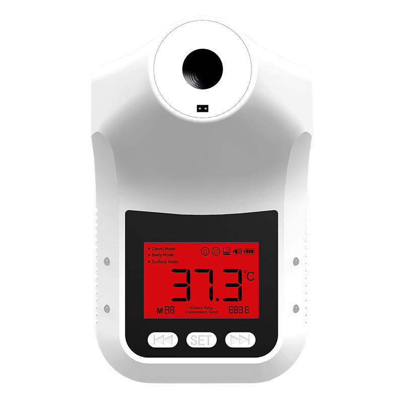 RK Upgraded K3 Pro Non Contact Standing Human Body Thermal Scanner with Voice Alarm Prompt LCD Display 4XAA Batteries