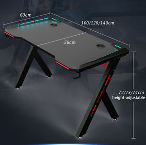 Professional Ergonomic Morden RGB light gaming table pc computer office gaming desk