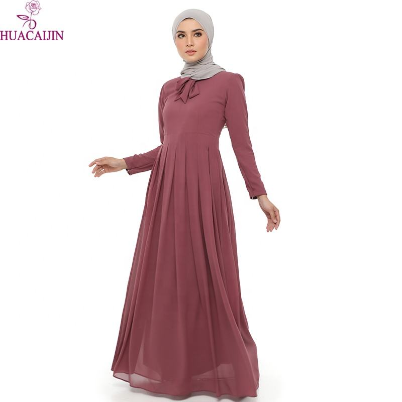 High Quality Soft Simple Style Muslim Dress Plus Size Modern Fashion Abaya Jilbab Islamic Clothing