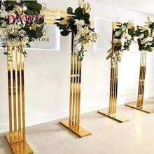 Bride and groom luxury wedding flower backdrop stand for sale