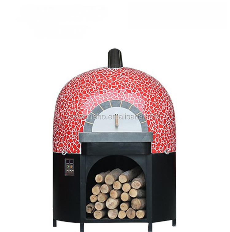 Used commercial conveyor wood fired rotating pizza oven for sale