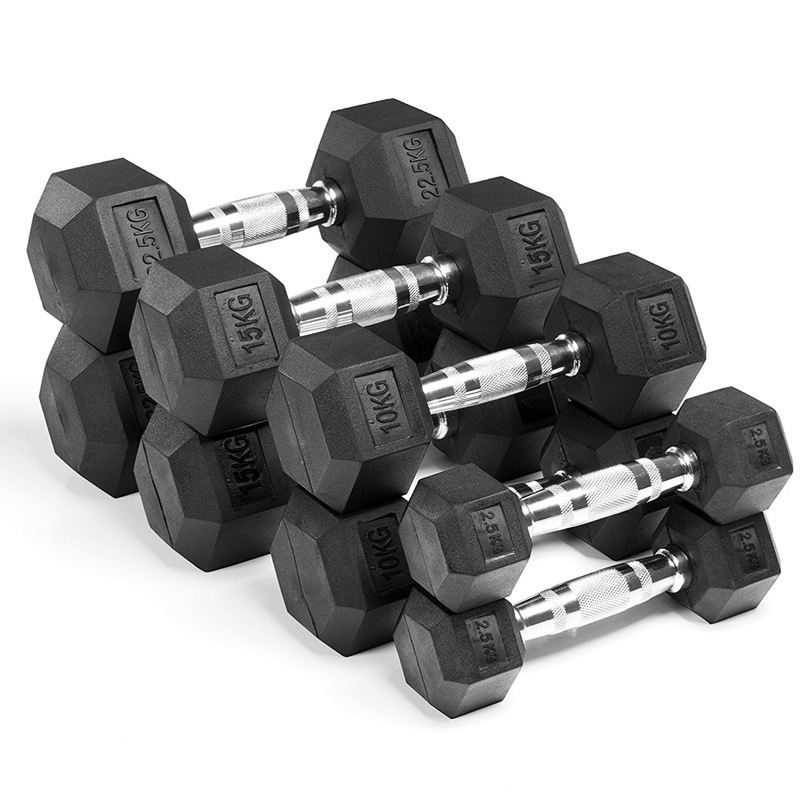 Fixed plastic hexagonal men's dumbbell sale free weights fitness dumbbells
