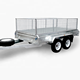 Horse Trailer China 8X5 10X5 10X6 Galvanized Tandem Axle Horse Trailer