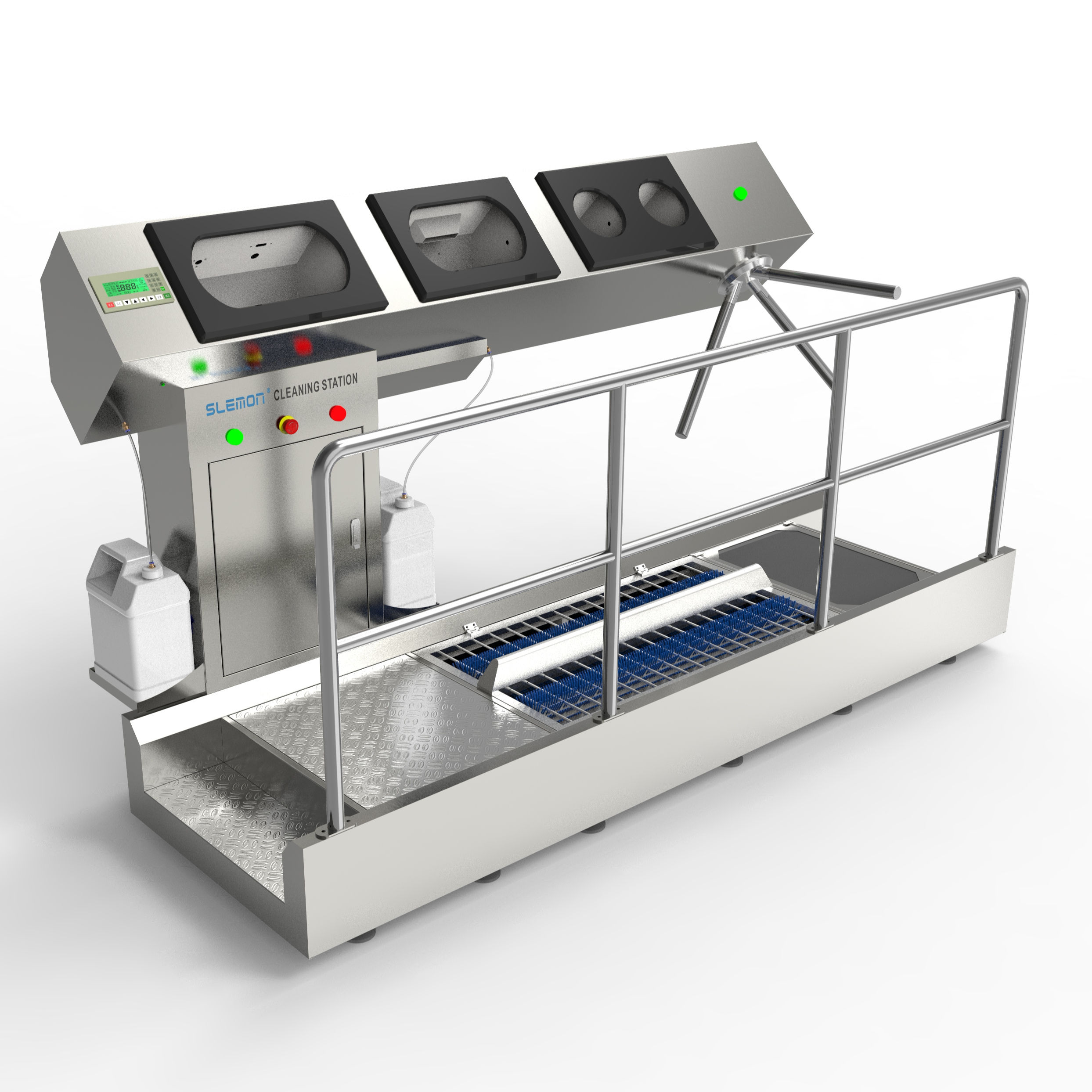 Sole Cleaning And Hand Disinfection Station Automatic