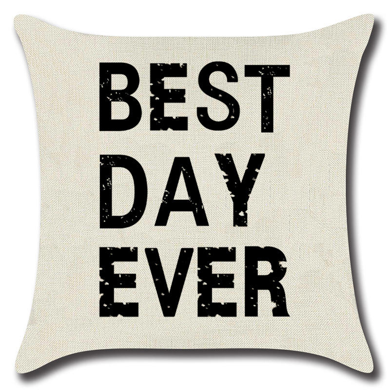 Throw Pillow Cover Best Day Ever Lettering Inspiration Cute