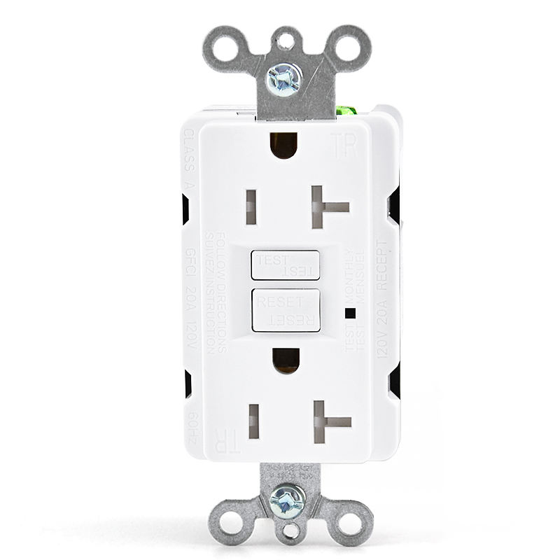PC Plate US Socket 20A GFCI Duplex Outlet Socket With Switch Receptacle For Sale