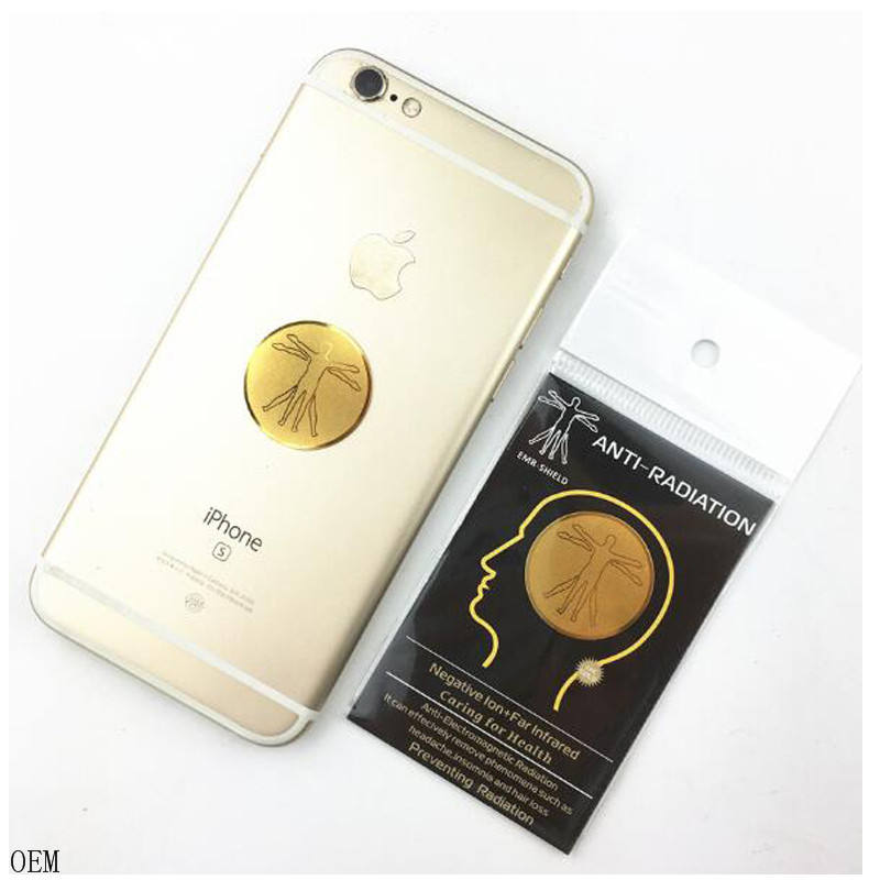 2020 Top dan Toko Anti EMF Laptop/Ponsel Emas 24K Sunflower Pola Anti Radiasi Stiker