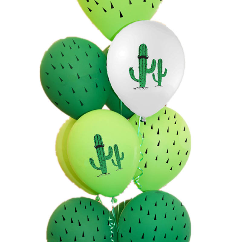 12 Inch Cactus Latex Balloon Hawaii Decoration Balloon Forest Birthday Theme Party Arrangement Supplies
