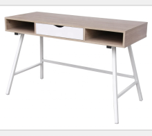 Metal frame simple style melamine home office  computer desk with drawers