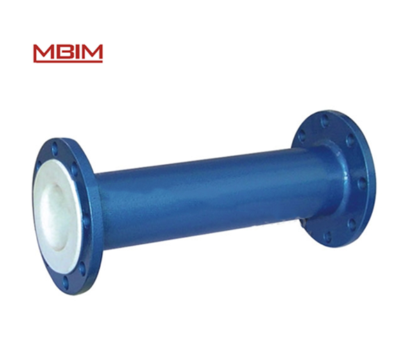 ANSI standard flanged connection PTFE Lined Pipe Fittings -lined straight pipe used for strong acid and alkali