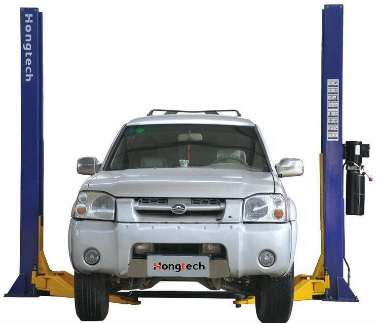 double hydraulic cylinder 2 post car hoist lifting machine