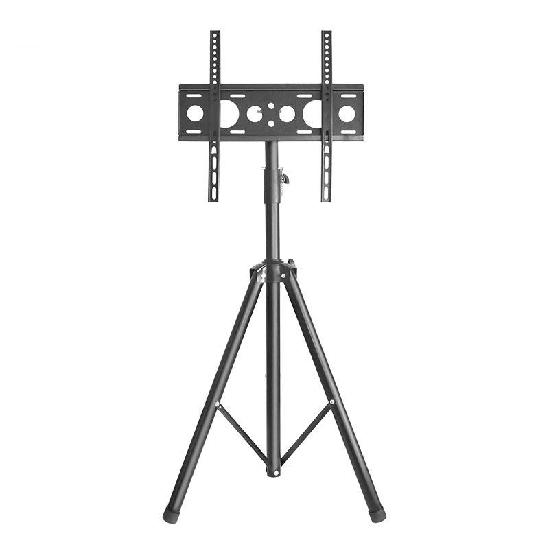 Black TV Tripod 26 zu 55 zoll LCD LED Flat Screen TV Display Floor Stand, Portable Height Adjustable Mount