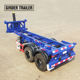 Dual axle gravel pup cargo transportation container chassis end dump tipping skeletal trailer for sale