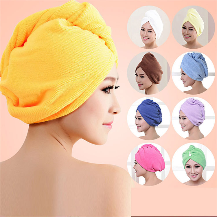 Super Water Absorbency Fiber Dry Hair Cap Super Absorbent Shower Hair Towel Microfiber