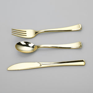 Pvd Plastic Goud Bestek Set Vergulde Glaswerk Sets