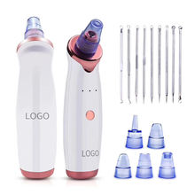Facial Massage Electric Five Suction Pore Cleaner Blackhead Remover Vacuum to Remove Skin Acne Noir Point Nose Blackhead