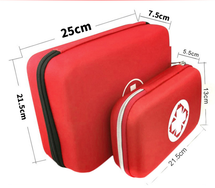 China Factory Epidemic Prevention First Aid Kit with Supplies First Aid Kits Pack Red Comastic Bags Private Logo Design Free