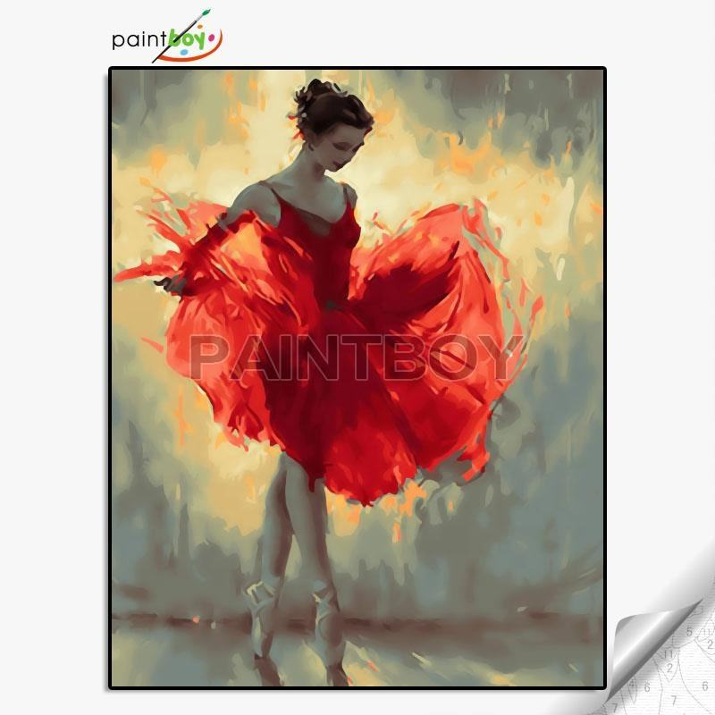GX27269 New arrival paintboy ballerina painting by numbers for wholesales