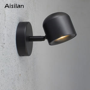 Aisilan BD-22 7W Wall Sconce New Rotation Adjustable Bedside Decorative Round LED Wall Lamp LED Wall Light