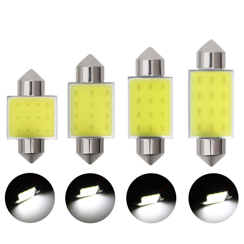 Cob festoon LED Bulb 12smd 31/36/39/41mm Car Roof Light Auto Interior DC 12V Lamp