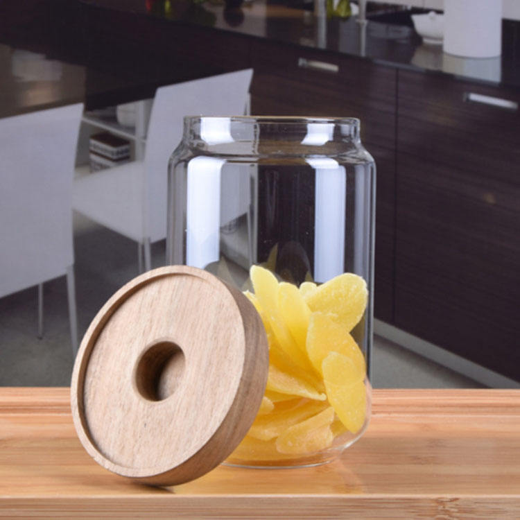 Glass Jars With Lid Buy China Hot Sale High Borosilicate Lucid Yogurt Glass Jar With Wooden Lid