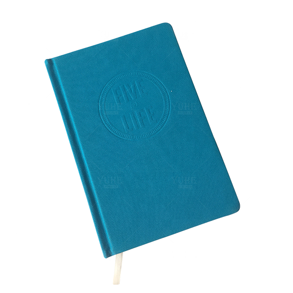 Luxury custom made high definition hardcover notebook cloth journal with round corner design