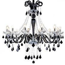 pendant light chandelier luxury black cristal chandelier modern lamps home decor pendant light modern wedding decoration