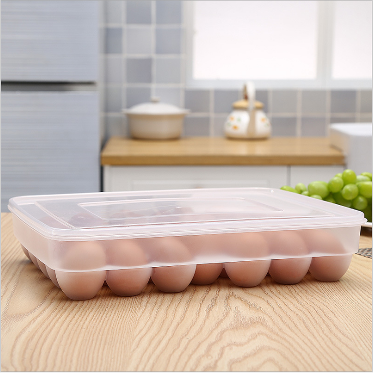34cells clear pet plastic egg box storage egg tray
