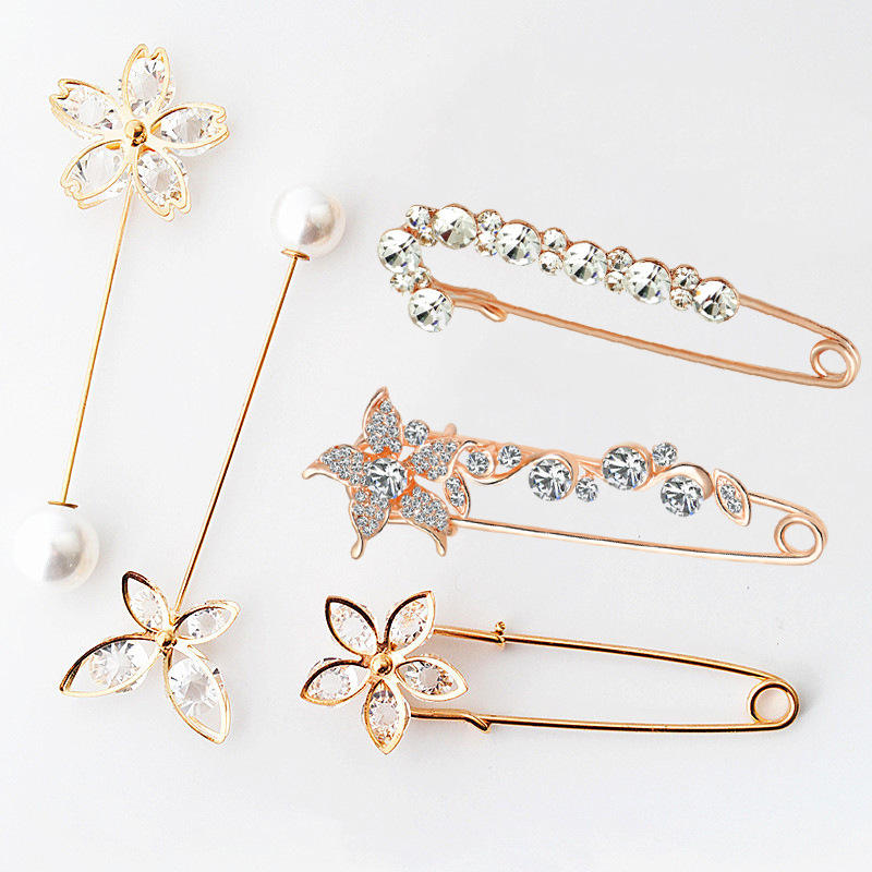 Shangjie OEM broche 7cm crystal rhinestone luxury brooch small brooch crystal brooch pin