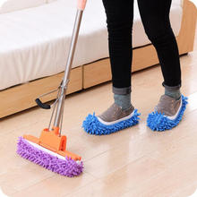 P493 Fashion Dust Mop Slipper Dust Cleaner Grazing Slippers House Bathroom Floor Cleaning Mop Slipper Lazy Shoes