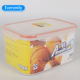 China household Food Grade Kitchen Fridge food container Clear Lunch Box