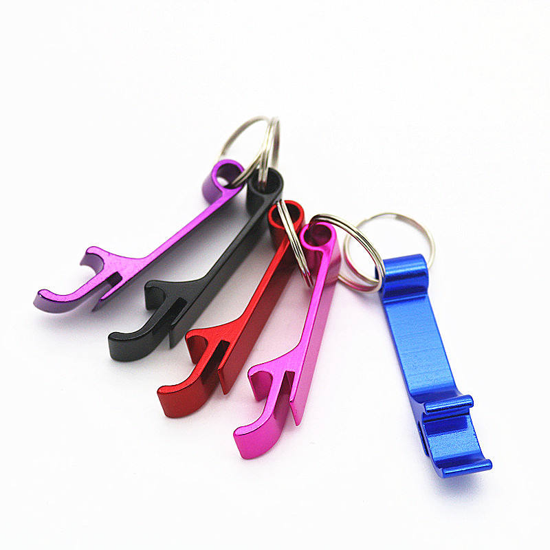 Metal Bottle Opener Key Ring Chain Keyring Keychain Beer Bar Keychain L0021