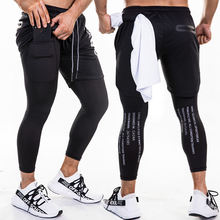 Wholesale jogger fitness sweat reflective double layer running shorts for men