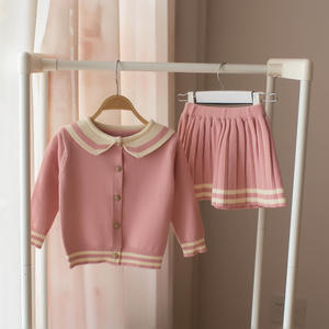 2019 Musim Semi Anak Pakaian Sweater Rok Suit Girl Cardigan Rajut