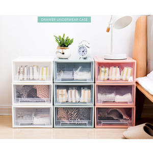 New Design Plastic PP Clothes Organizer Clothes 3-tier Plastic Storage Drawers