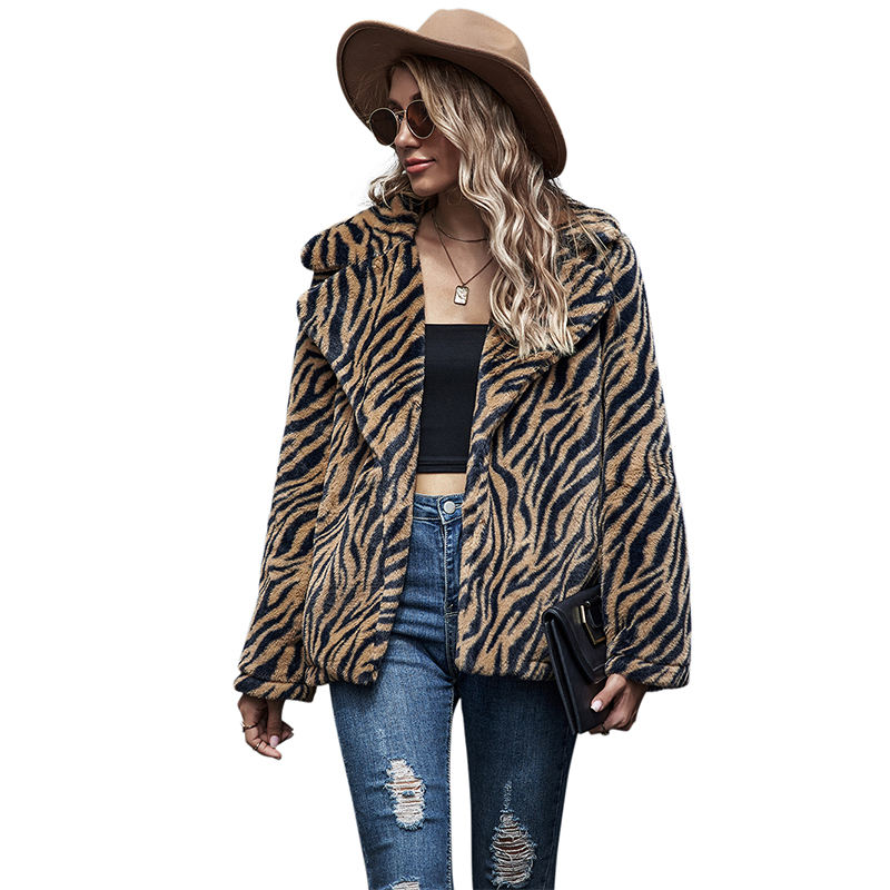 2020 new fashion women wool cloth short style ladies leopard winter wool coat japan korea used clothes