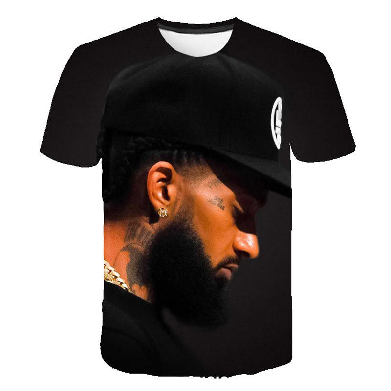 3d T-shirt Nipsey Hussle High Quality Tshirts Men Clothes Hip Pop Top Comfortable Hot Sales Short Sleeve Printed T-shirts
