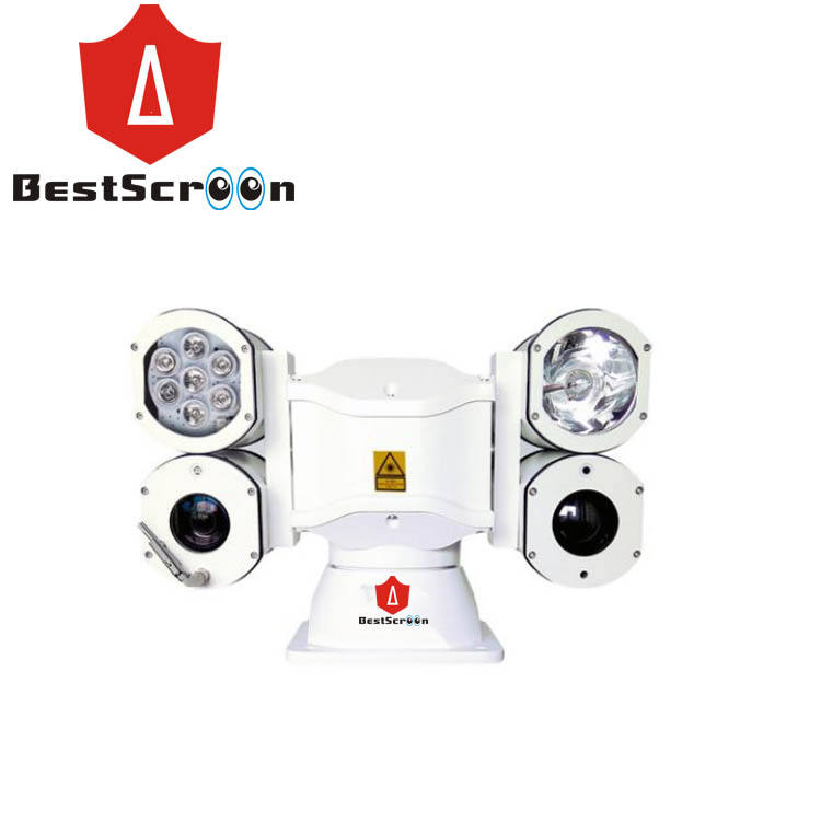 20x /30X Zoom IP camera + 2LED IR lamp+laser light Multiple fill light Anti-fog vehicle mounted boat PTZ Surveillance Camera