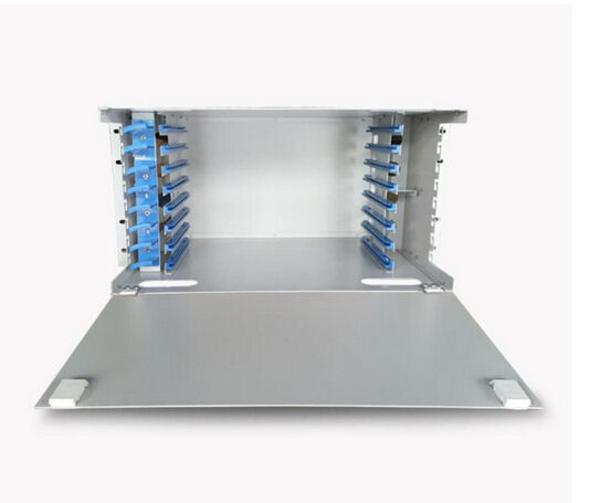 Optical Distribution Frame <span class=keywords><strong>Unit</strong></span> Box 144/96/48/24/12 Port 19Inch <span class=keywords><strong>Dinding</strong></span> ODF untuk 1U 2U Patch Panel Outdoor Indoor