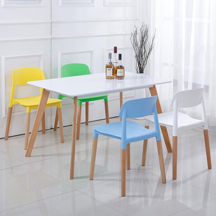 De alta calidad de muebles para el hogar de PP de asiento de plástico nórdicos juegos de <span class=keywords><strong>comedor</strong></span> mesa de <span class=keywords><strong>comedor</strong></span> moderna 4/6/8 sillas