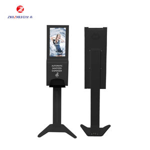 Lcd Display Sanitizer Hd Vloerstaande Reclame Kiosk Mediaspeler Android Digital Signage Met Handdesinfecterende Dispenser