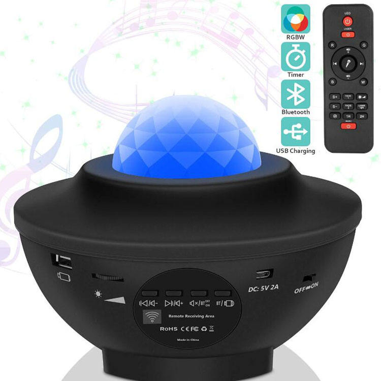 2020 Amazon Remote control muti-functions star musical master Kids Led Night Light laser cosmos Stars Projector for kids baby