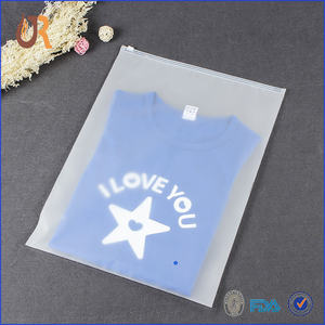 Resealable cheap small heat seal T shirt used zip lock luxury garment plastic clothes sock packaging bags