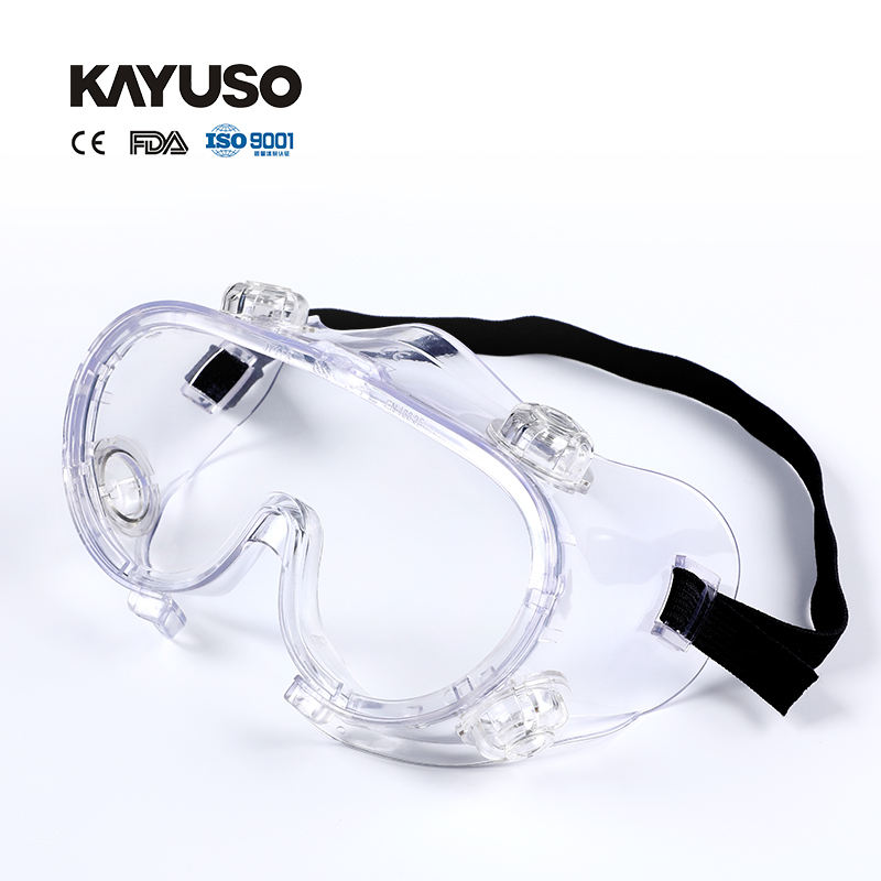 KAYUSO Anti-Fog Clear Infection Protective Safety Goggles protection Medical air soft Goggles manufacturer