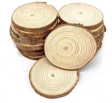 Natural Wood Slices Unfinished Log Wooden Circles for DIY Crafts Wedding Decorations