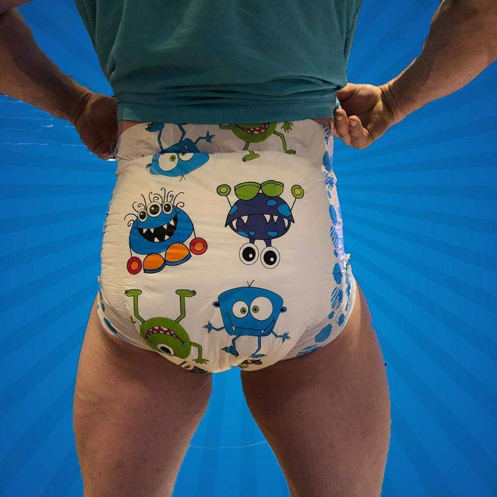 Premium OEM ultra thick super high absorbency printed sexy ABDL adult baby diaper nappies by China Manufacturer