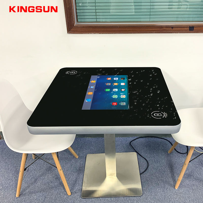 21.5 Inch Indoor Application Wireless Charged 1080P PCAP Interactive Touch Table For Home Restaurant Coffee Shop