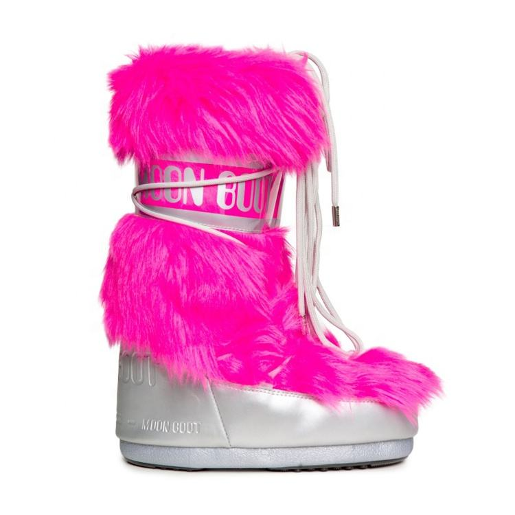 Best Quality Original Moon Boots Long Style Multi Color Fur Snow Moon Boots