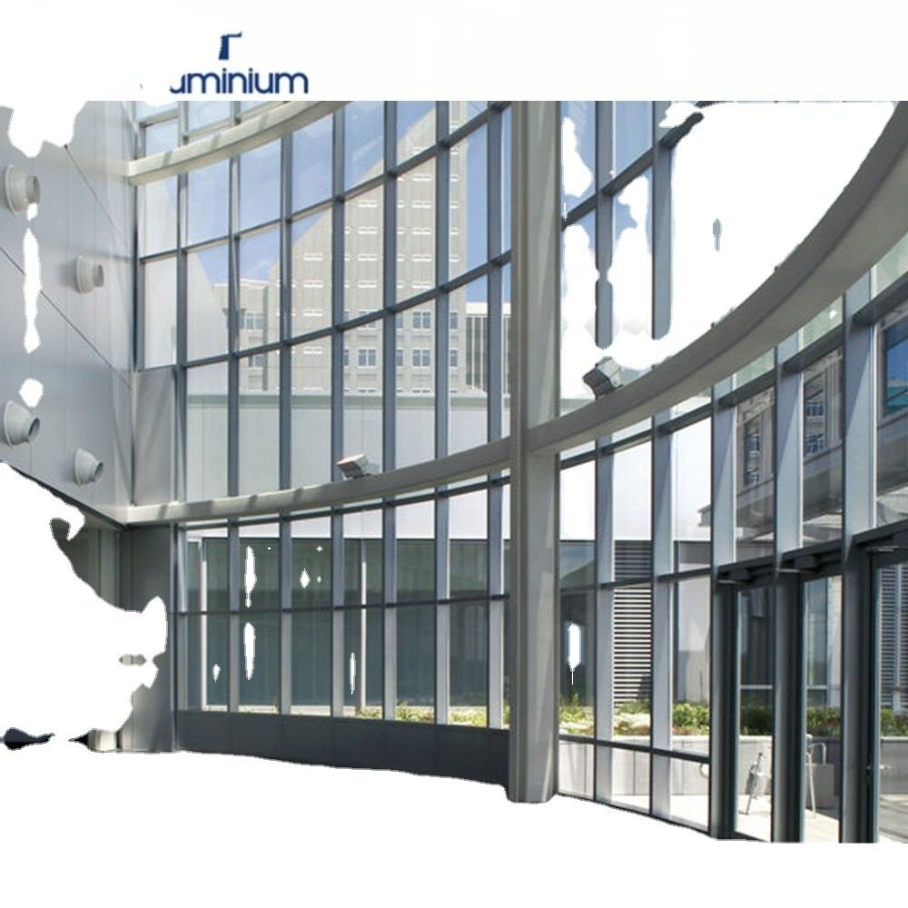 Beautiful design aluminium curtain wall from factory