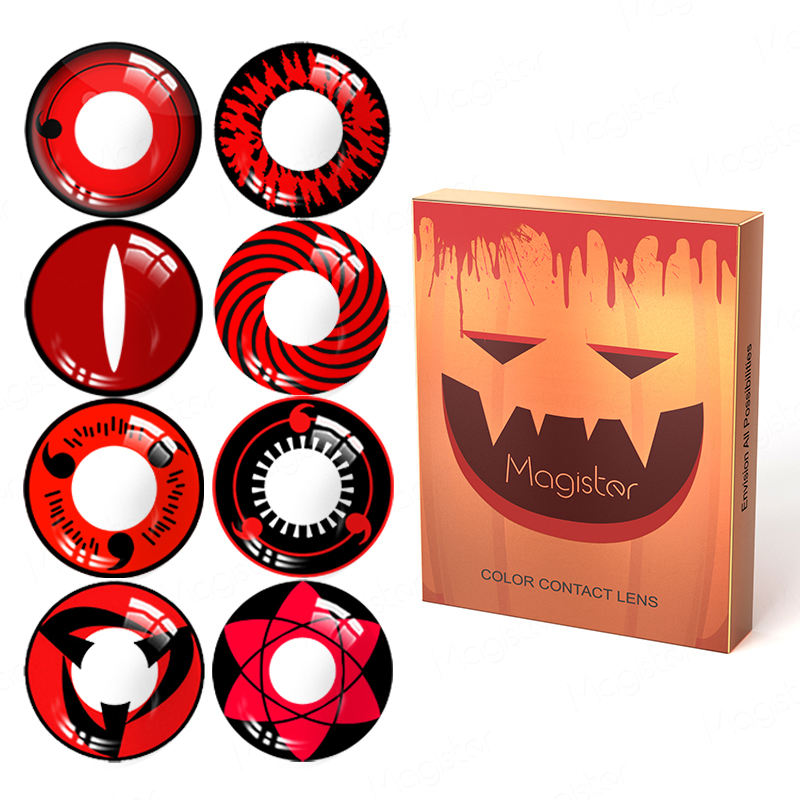 <span class=keywords><strong>Lentilles</strong></span> d'halloween sharingan contacts cosplay fou Fou de vente chaude de conception de couleur <span class=keywords><strong>Lentilles</strong></span> de Contact souples
